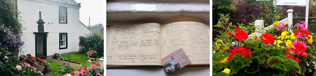 Reviews visitor book stone house farm cumbria st bees